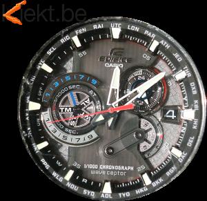 Horloge op zonne-energie: de Casio Edifice. Horlogemaker Turnhout