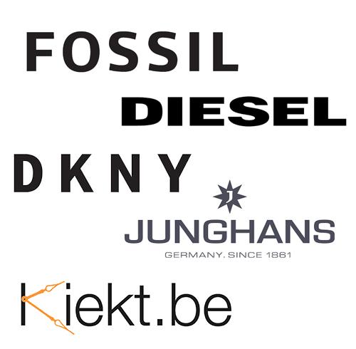Bandjes uurwerk Fossil, Armani, Diesel, DKNY, Junghans