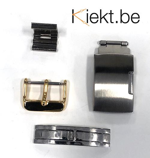 Slot vervangen metalen en lederen armband horlogeband