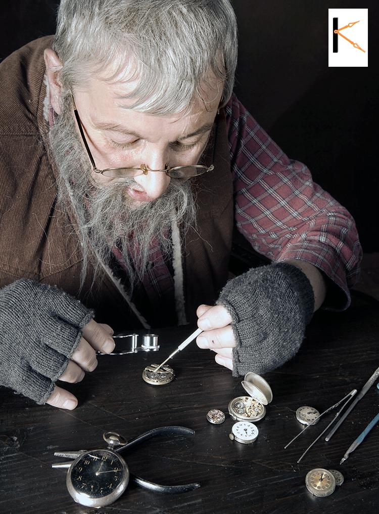 Meer dan dertig jaar ervaring , herstellen oude horloges